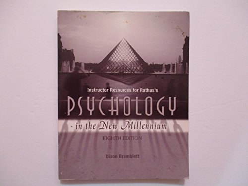 Instructor Resources for Ralthus's Psychology in the: Rathus, Spencer A.;