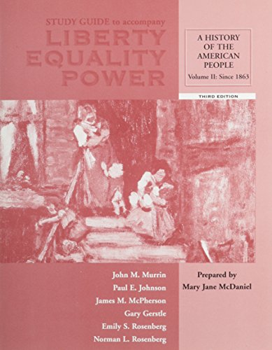 Study Guide, Volume II for Murrin et: Murrin, John M.