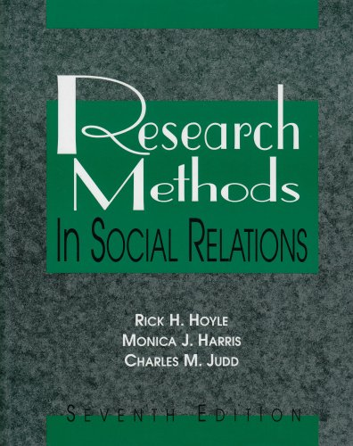 9780155061392: Research Methods in Social Relations