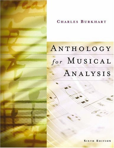 9780155062184: Anthology for Musical Analysis
