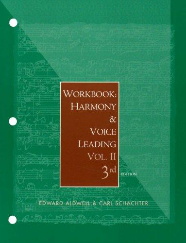 9780155062344: Workbook: Harmony and Voice Leading, Volume 2