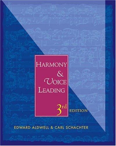 9780155062429: Harmony & Voice Leading