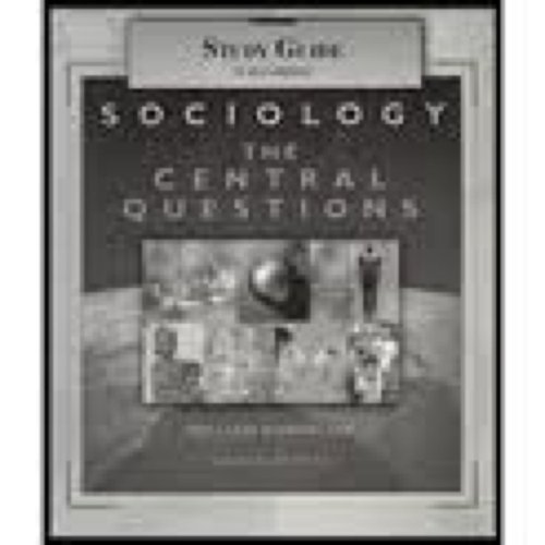 9780155065703: Study Guide for Kornblum/Smith's Sociology: The Central Questions