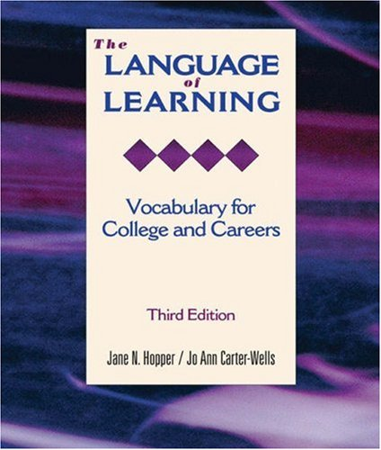 9780155066755: The Language of Learning: Vocabulary for College and Careers