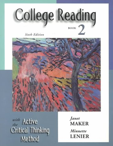 9780155066816: College Reading with the Active Critical Thinking Method, Book 2, 6th Edition
