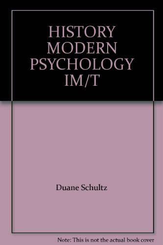 9780155068049: HISTORY MODERN PSYCHOLOGY IM/T