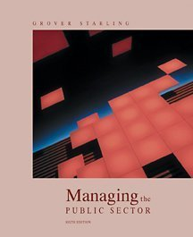 9780155068599: Managing the Public Sector
