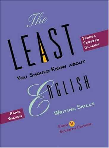 9780155069879: The Least You Should Know about English, Form B