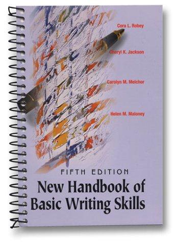 9780155070714: New Handbook of Basic Writing Skills