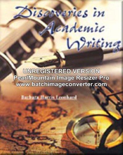 DISCOVERIES ACADEMIC WRIT IM: Instructors Manual: Barbara Harris Leonhard