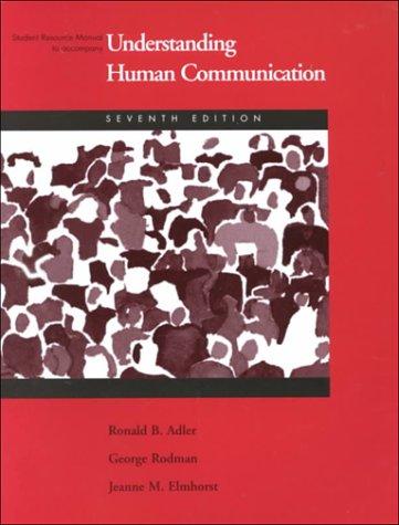 9780155073098: Understanding Human Communication