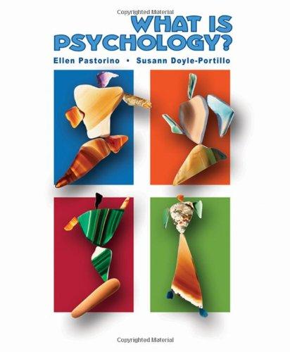 What is Psychology? (0155073338) by Pastorino, Ellen E.; Doyle-Portillo, Susann M