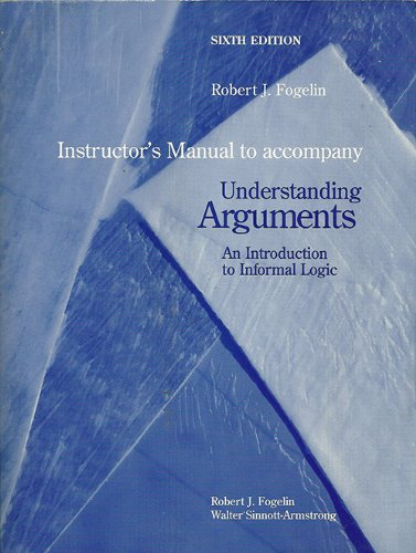 9780155075498: Understanding Arguments (Instructor's Manual)