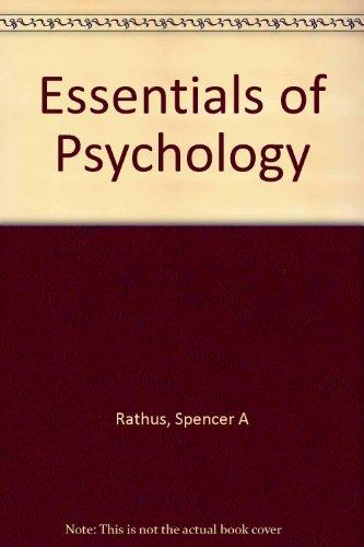 9780155075764: Essentials of Psychology