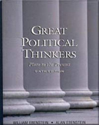 9780155078895: Great Political Thinkers: Plato to the Present