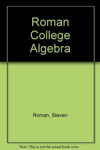 9780155078901: College Algebra