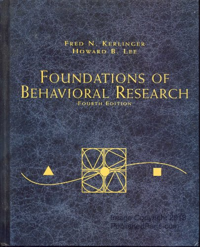 9780155078970: Foundations of Behavioral Research