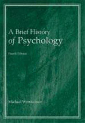 9780155079977: A Brief History of Psychology