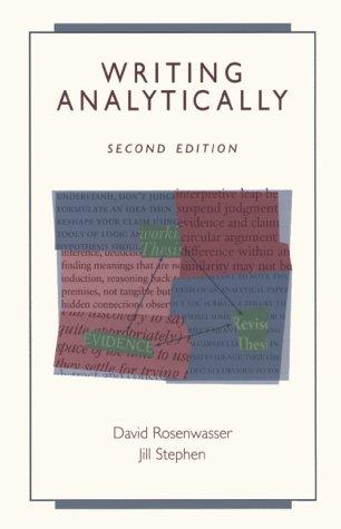 9780155080706: Writing Analytically