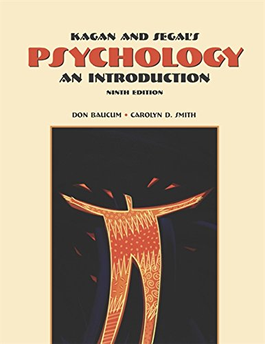 9780155081147: Cengage Advantage Books: Kagan and Segal's Psychology: An Introduction (with InfoTrac) (Available Titles CengageNOW)