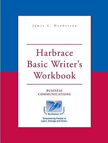 9780155081543: Harbrace Basic Writer's Workbook