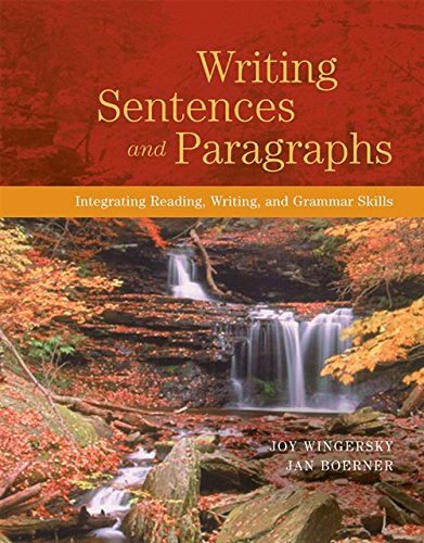 9780155085305: Writing Sentences and Paragraphs: Integrating Reading, Writing, and Grammar Skills