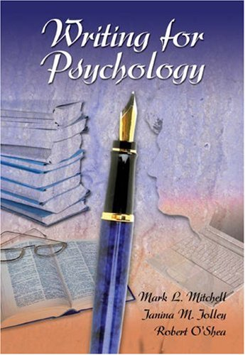 9780155085541: Writing for Psychology (with InfoTrac)