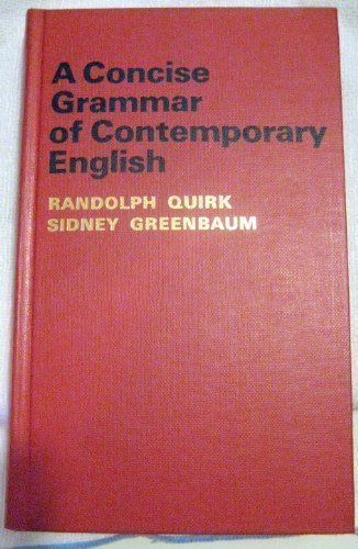 9780155129306: A Concise Grammar of Contemporary English