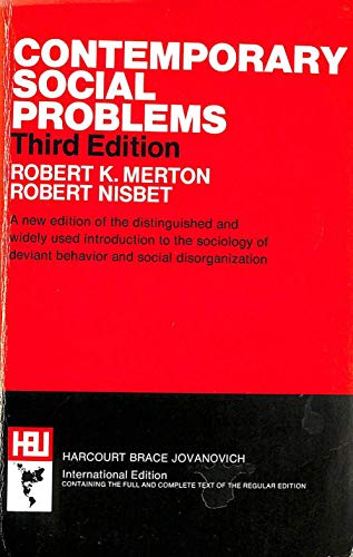 9780155137905: Contemporary Social Problems