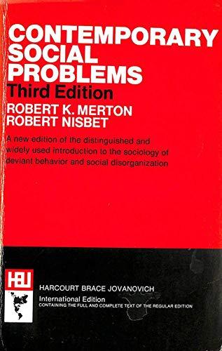 9780155137905: Contemporary Social Problems