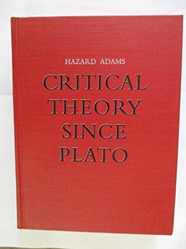 Critical Theory Since Plato: Adams, Hazard (Ed.)