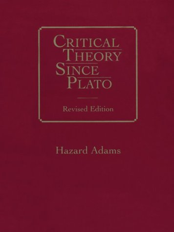 9780155161436: Critical Theory Since Plato