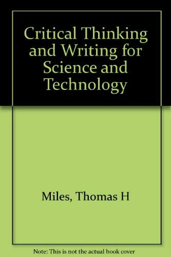9780155161566: Critical Thinking & Writing for Science & Technology