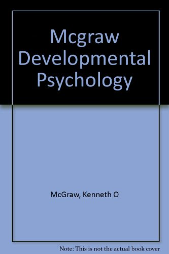 9780155176232: Mcgraw Developmental Psychology