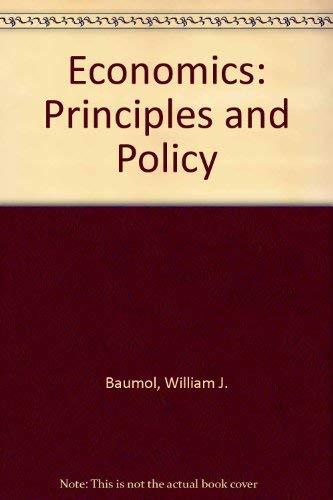 9780155188433: Economics: Principles and Policy