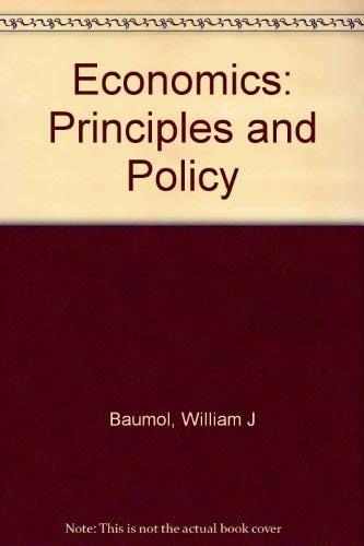 9780155188792: Economics: Principles and Policy