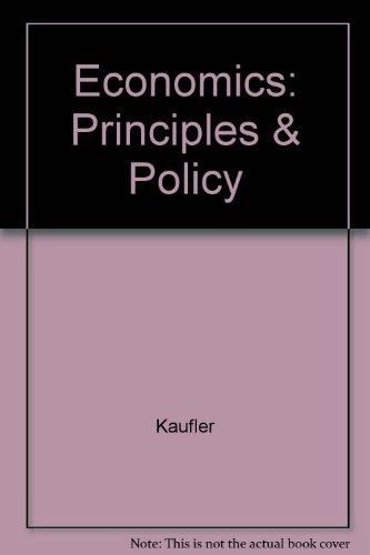 9780155189126: Economics: Principles & Policy