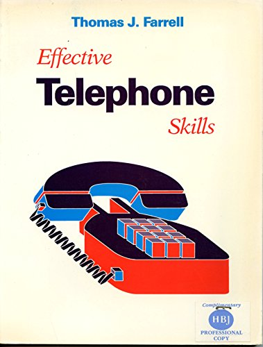 9780155209312: Effective telephone skills