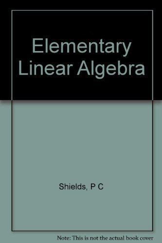 9780155210844: Elementary Linear Algebra