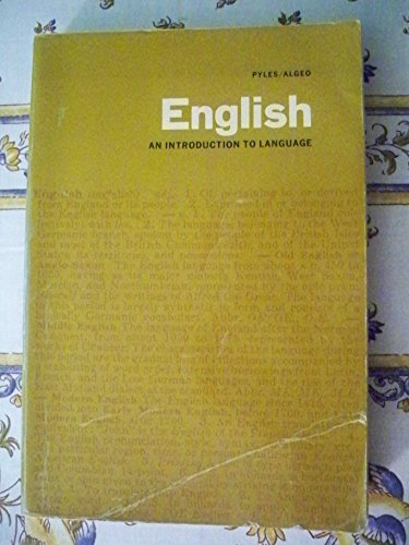 9780155226425: English: An Introduction to Language