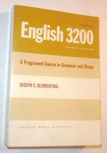 9780155226753: English 3200 : A Programed Course in Grammar and Usage