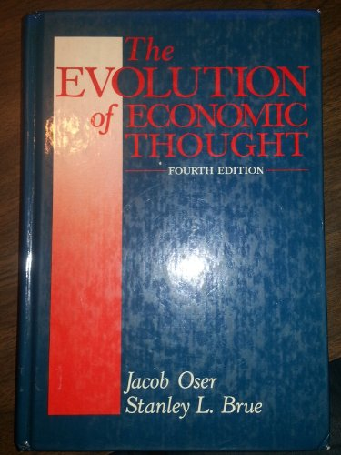 9780155250031: The Oser Evolution Econ Thought 4e