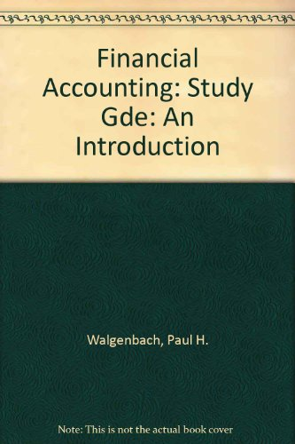 9780155273832: Financial Accounting: Study Gde: An Introduction