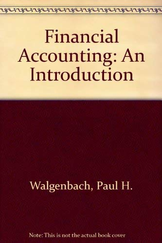 9780155274105: Financial Accounting: An Introduction