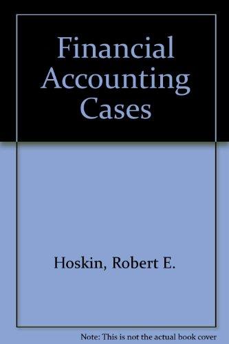 9780155275010: Financial Accounting Cases
