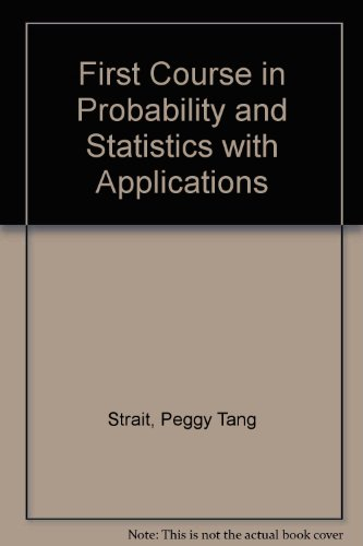 9780155275232: First Course in Probability and Statistics with Applications