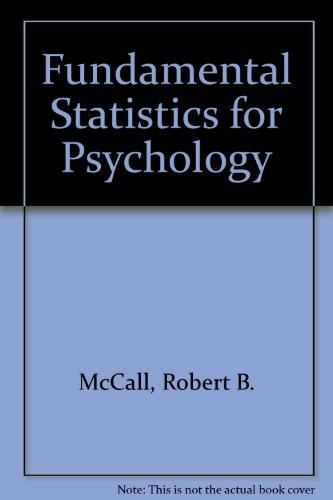 9780155294127: Fundamental Statistics for Psychology