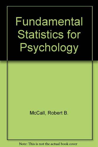 9780155294226: Fundamental Statistics for Psychology