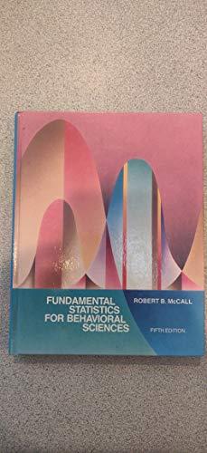 9780155294769: Fundamental Statistics for the Behavioral Sciences