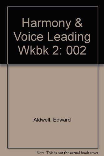 9780155315181: Harmony and Voice Leading Workbook, Vol. 2